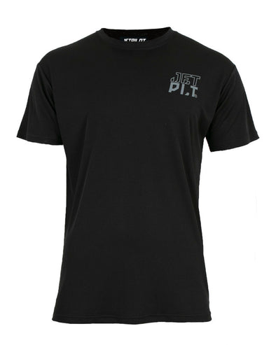 JETPILOT HYPED MENS S/S HYDRO TEE BLACK