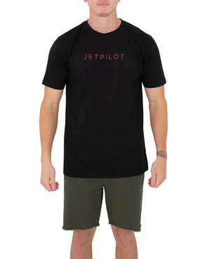JETPILOT FLY MENS TEE BLACK/RED