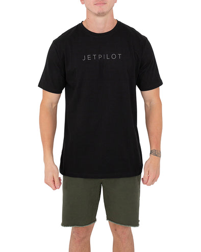 JETPILOT FLY MENS TEE BLACK/WHITE