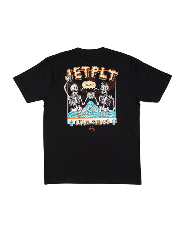 JETPILOT CHUG THUGS MENS TEE BLACK