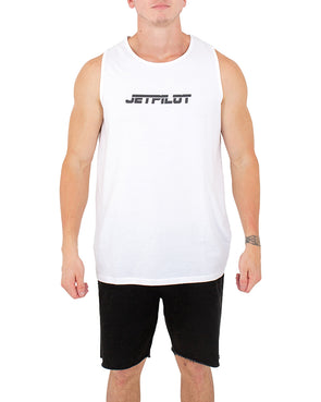 JETPILOT PAST MENS TANK WHITE