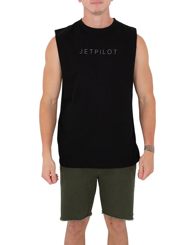 JETPILOT FLY MENS MUSCLE BLACK