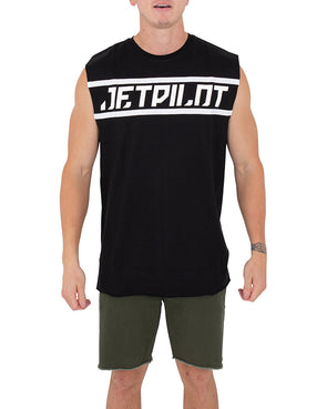 JETPILOT TAPED UP MENS MUSCLE BLACK