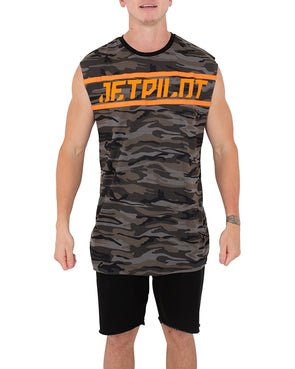 JETPILOT TAPED UP MENS MUSCLE CAMO