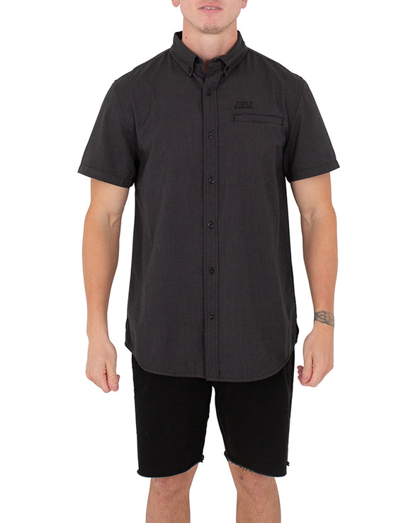JETPILOT BUTTON UP MENS S/S SHIRT BLACK