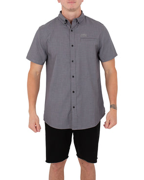 JETPILOT BUTTON UP MENS S/S SHIRT CHARCOAL