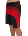 JETPILOT WILD SWIPE MENS BOARDSHORT BLACK/RED