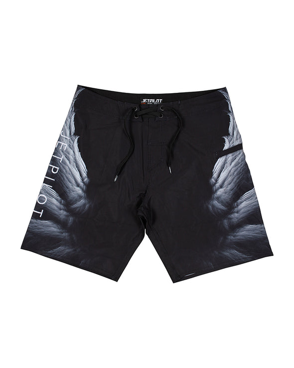 JETPILOT FLY MENS BOARDSHORT BLACK/WHITE