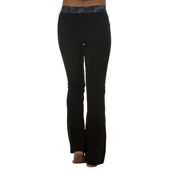 JETPILOT KICKIN' IT LADIES LW PANTS BLACK/CAMO
