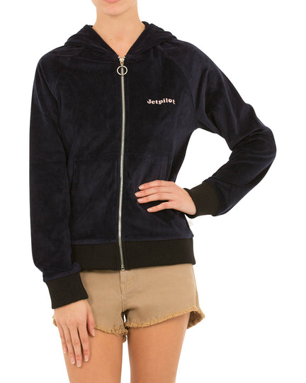 JETPILOT FAUX SWEET LADIES FLEECE MIDNIGHT