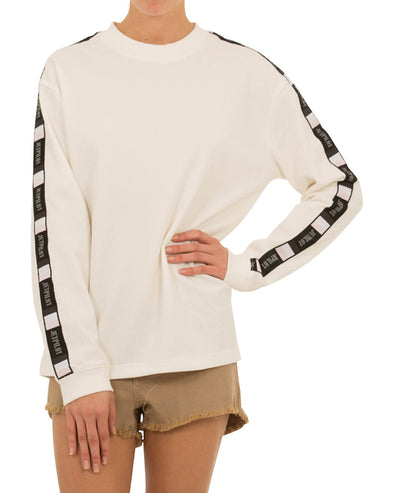 JETPILOT KICK ON LADIES L/S TEE WHITE