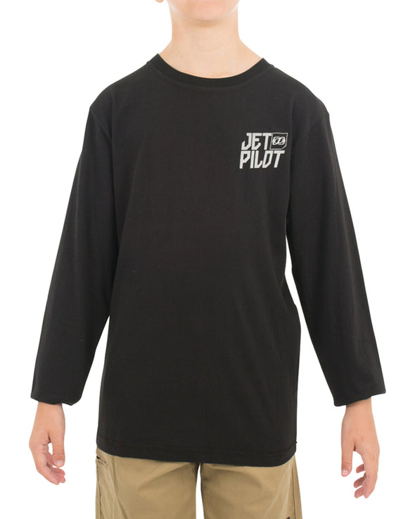 JETPILOT SHOWTIME YOUTH L/S TEE BLACK