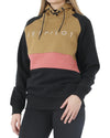 JETPILOT CORP LADIES PO HOODIE BLACK/TAN