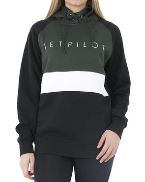 JETPILOT CORP LADIES PO HOODIE BLACK/GREEN