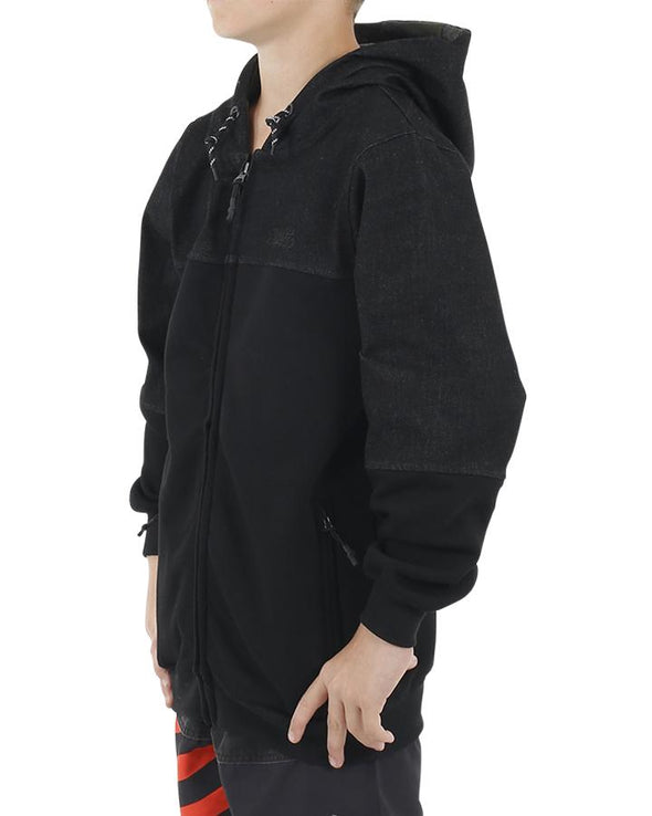 JETPILOT ADDICT YOUTH HOODIE BLACK/MARLE