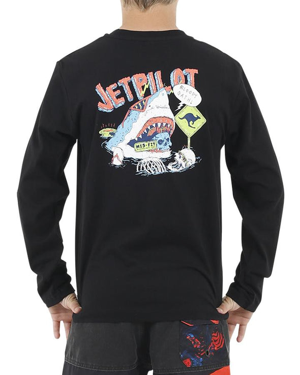 JETPILOT FISH FOOD YOUTH L/S TEE BLACK