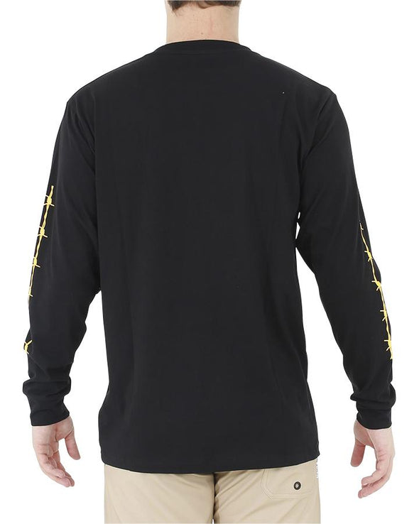 JETPILOT WIRED MENS L/S TEE BLACK/YELLOW