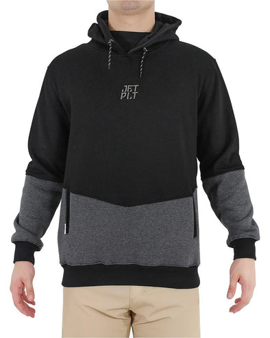 JETPILOT SPLIT UP MENS HOODIE BLACK/CHARCOAL