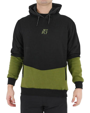 JETPILOT SPLIT UP MENS HOODIE BLACK/MILITARY