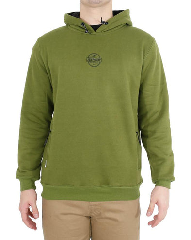 JETPILOT SHOWTIME MENS HOODIE MILITARY