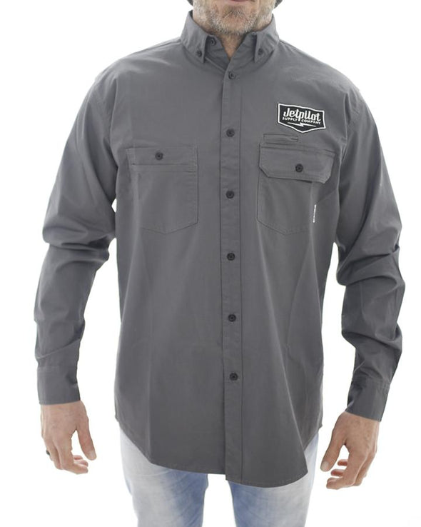 JETPILOT SUPPLY CO MENS L/S SHIRT CHARCOAL