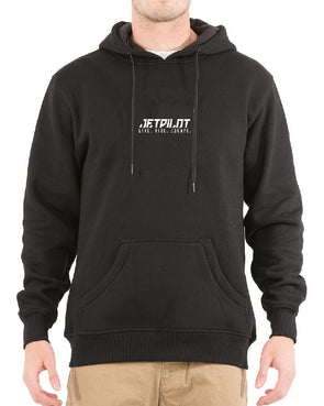 JETPILOT ESSENTIALS MENS HOODIE BLACK