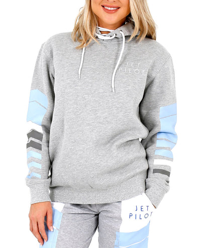 JETPILOT ORBIT LADIES PULLOVER HOODIE GREY/MARLE