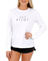 JETPILOT CORP LADIES L/S TEE WHITE