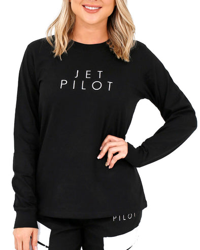 JETPILOT CORP LADIES L/S TEE BLACK