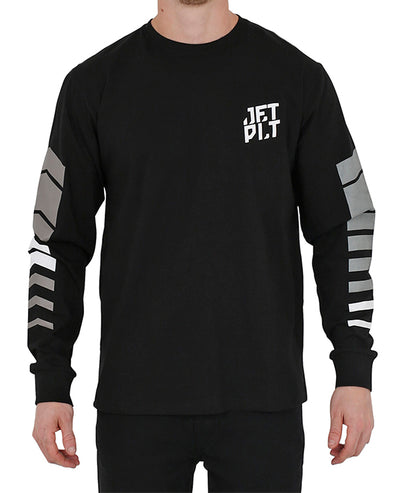JETPILOT ORBIT MENS L/S TEE BLACK/GREY