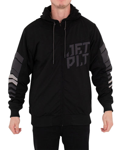 JETPILOT ORBIT MENS HOODIE BLACK/CHARCOAL