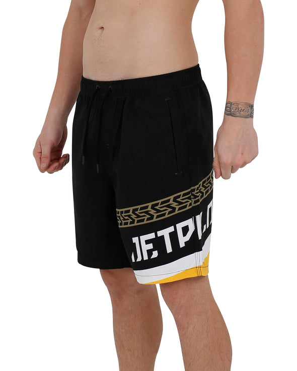 JETPILOT STRIKE MENS BEACH SHORT BLACK