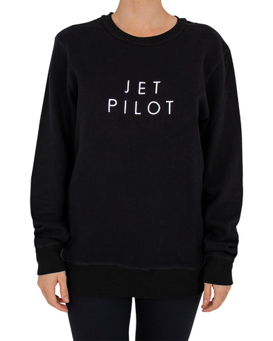 JETPILOT SIMPLE LADIES CREW BLACK