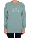JETPILOT SIMPLE LADIES CREW SAGE