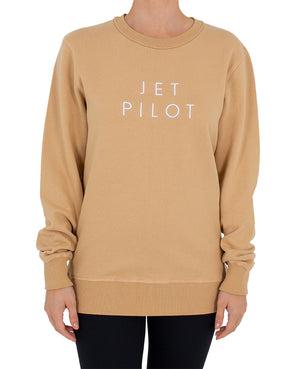 JETPILOT SIMPLE LADIES CREW TAN