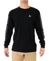 JETPILOT LESS THINKING MENS L/S TEE BLACK