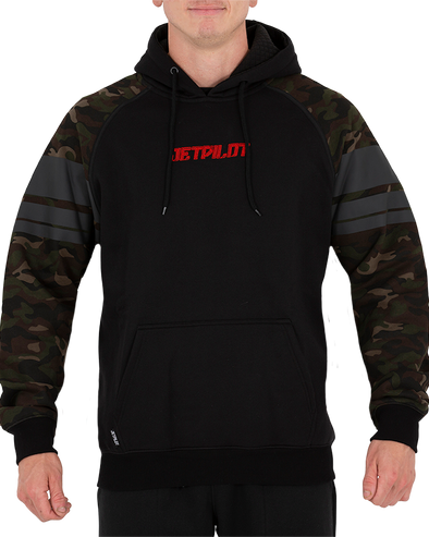JETPILOT FULL PROTEK MENS P/OVER HOODIE BLACK/CAMO