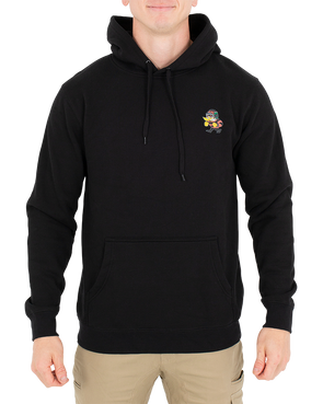 JETPILOT BREWING CO MENS P/OVER HOODIE BLACK