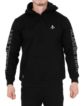 JETPILOT LESS THINKING MENS P/O HOODIE BLACK