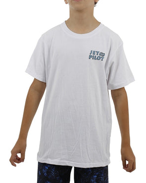 JETPILOT SHARK YOUTH TEE WHITE