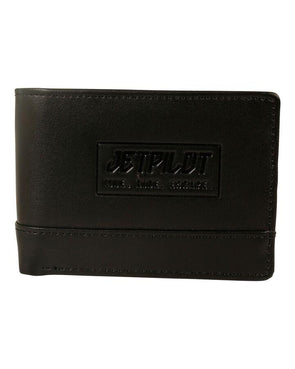 JETPILOT ESCAPE LEATHER WALLET BLACK