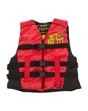 JETPILOT YOUTH THE CAUSE F/E KIDS NYLON VEST RED LEVEL 50
