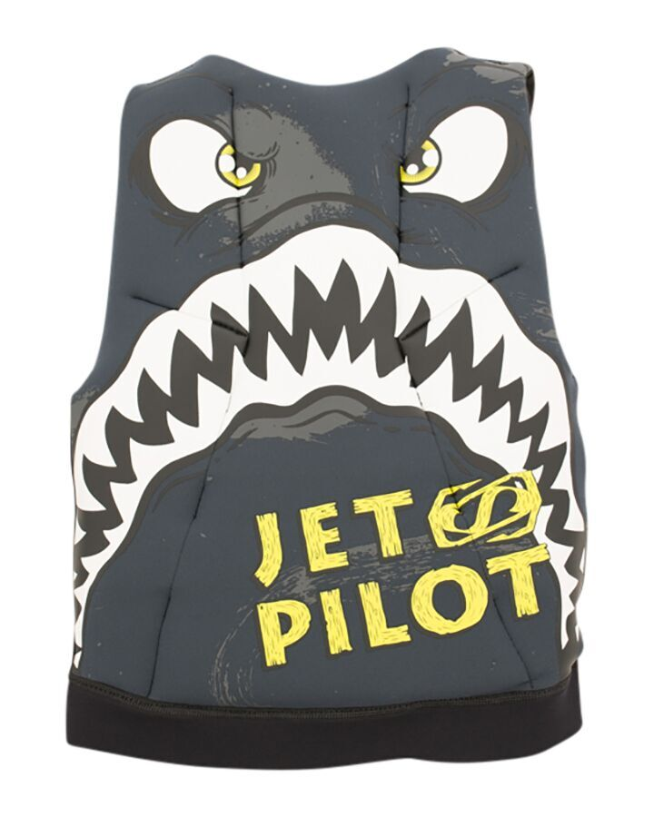 JETPILOT YOUTH THE CAUSE F/E KIDS NEO VEST CHARCOAL/BLACK