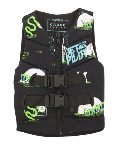 JETPILOT YOUTH THE CAUSE F/E KIDS NEO VEST BLACK/GREEN