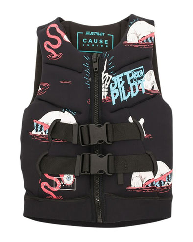 JETPILOT YOUTH THE CAUSE F/E KIDS NEO VEST BLACK/BLUE