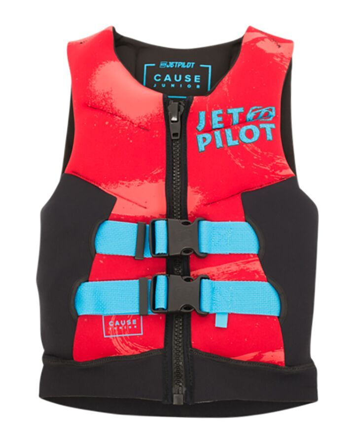 JETPILOT YOUTH THE CAUSE F/E KIDS NEO VEST RED LEVEL 50