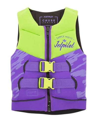 JETPILOT YOUTH THE CAUSE F/E KIDS NEO VEST LIME/PURPLE
