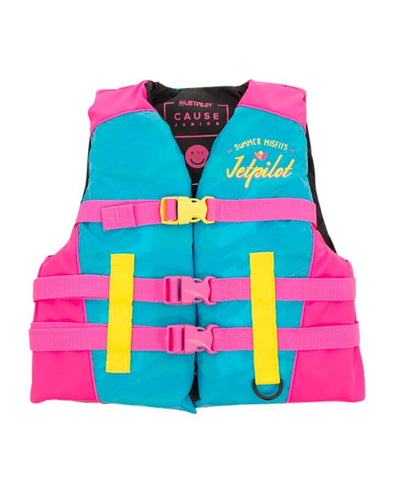 JETPILOT YOUTH THE CAUSE F/E KIDS NYLON VEST BLUE/PINK