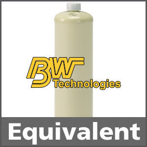 BW Technologies CG2-JX-2.2-34 Calibration Gas: 2.2% vol. Methane, 18% Oxygen, Balance Nitrogen