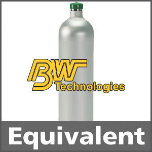 BW Technologies CG2-JX-2.2-58 Calibration Gas: 2.2% vol. Methane, 18% Oxygen, Balance Nitrogen